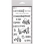 Letter It Clear Stamps Wedding