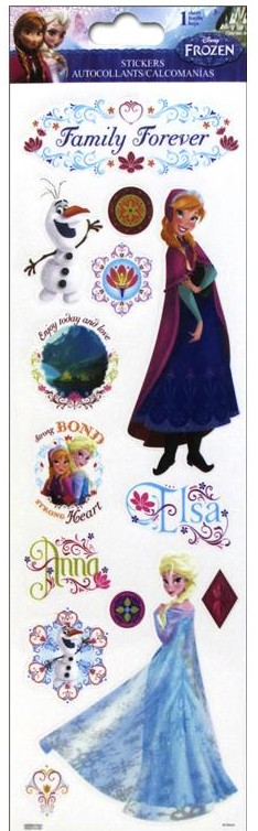 Frozen Stickers Family Forever