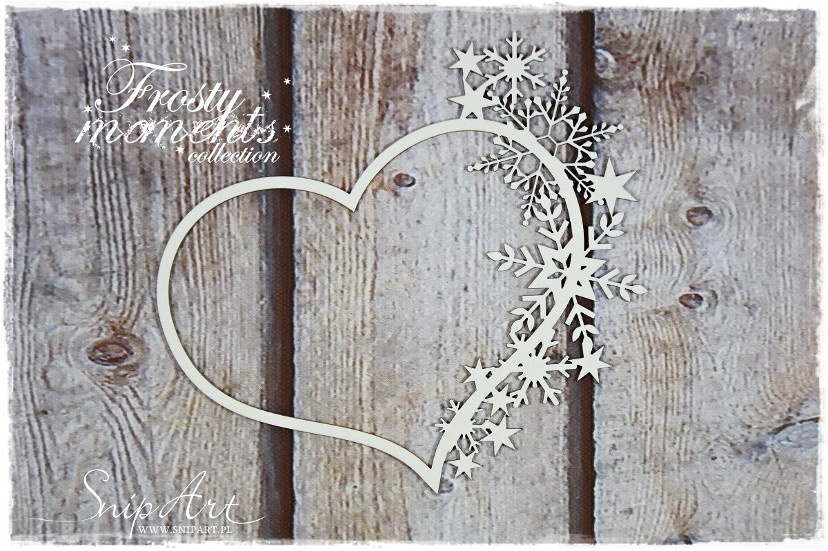 Snipart Chipboard Frosty Moments Coeur et Flocons