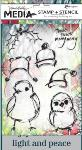 Dina Wakley Scribbly Holiday Birdies