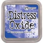 Distress Oxide Blue Print Sketch