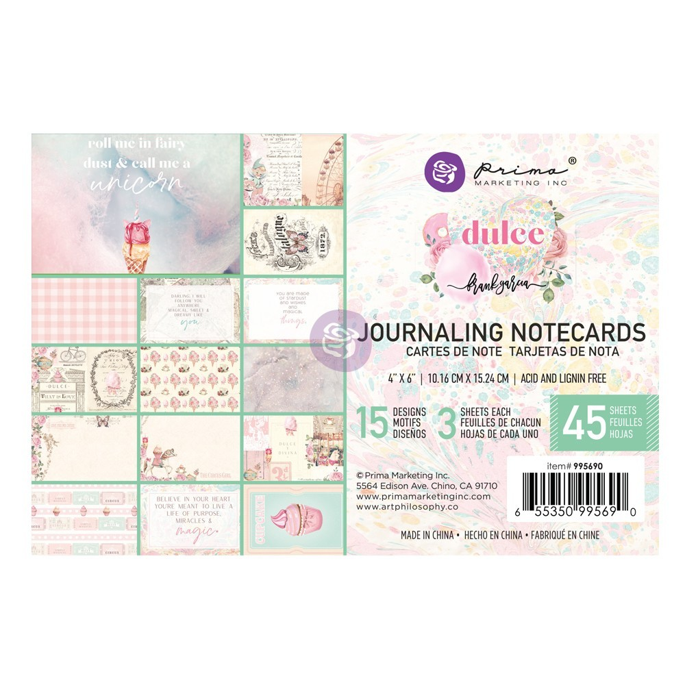 Prima Dulce Journaling Notecards