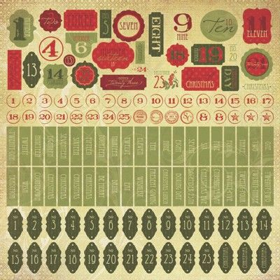 Kaisercraft Twig & Berry Numbers Sticker Sheet