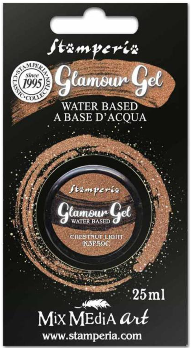 Stamperia Glamour Gel Chestnut Light