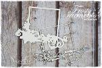 Snipart Chipboard Frosty Moments Cadre Noel Carré