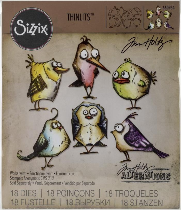 Tim Holtz Bird Crazy Dies